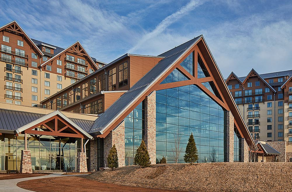 Gaylord Rockies exterior with beautiful large windows