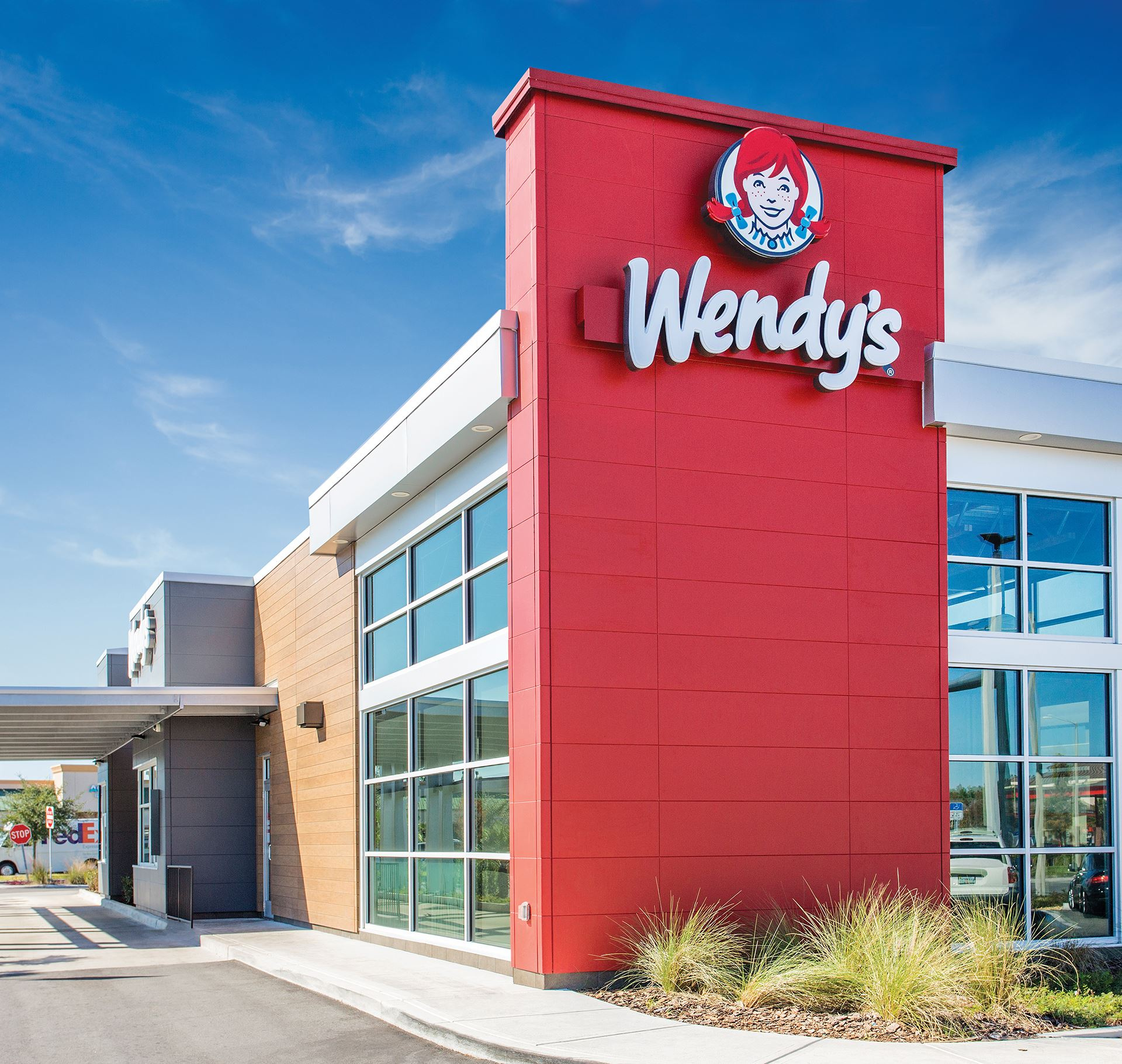 Wendy's red tower featuring Illumination panels